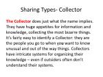 sharing types collector