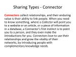 sharing types connector