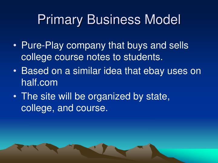 Primary business model