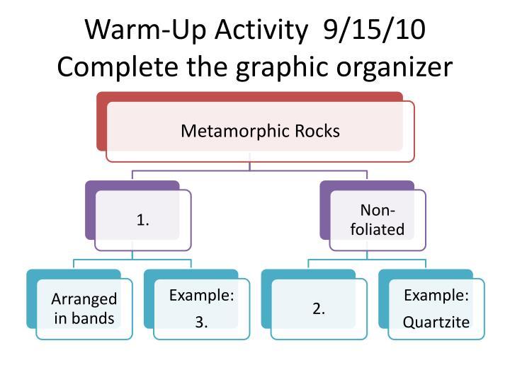Warm-Up Activity  9/15/10