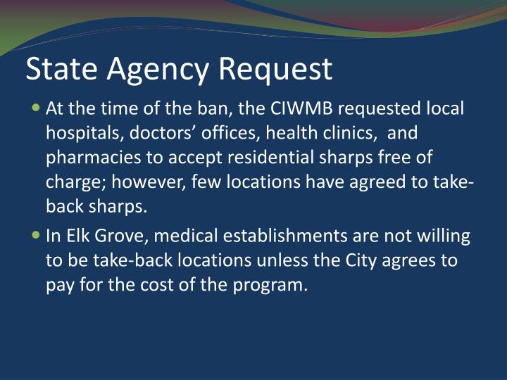 State agency request