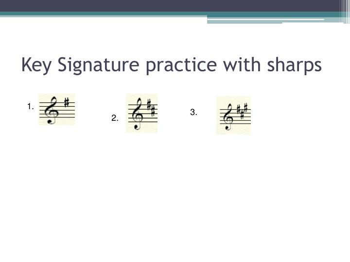 Key Signature practice with sharps