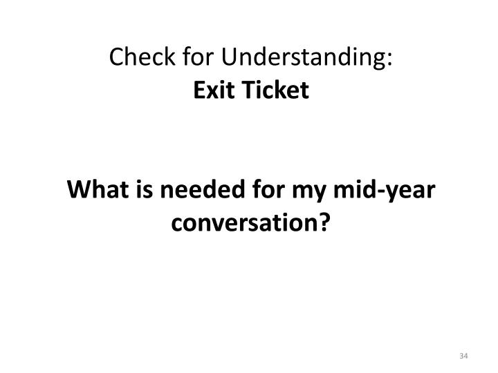 Check for Understanding: