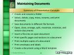 maintaining documents1