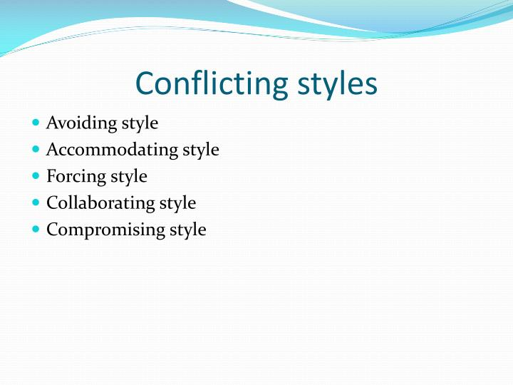 Conflicting styles