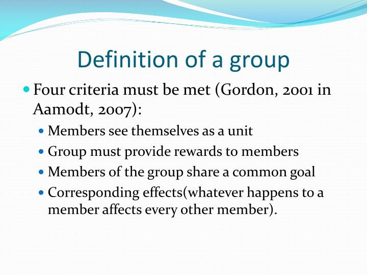 Definition of a group