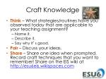 craft knowledge2
