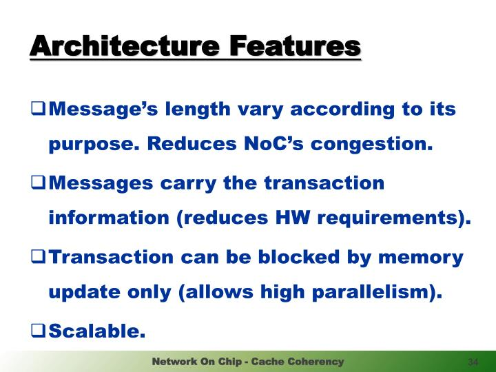 Architecture Features