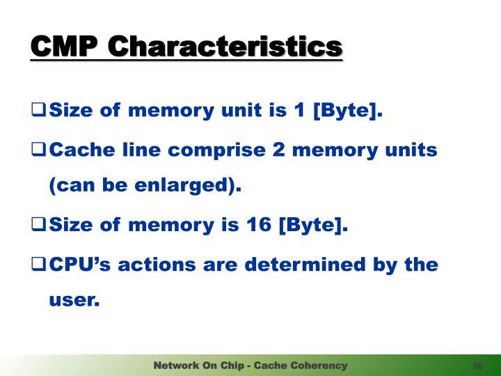 CMP Characteristics