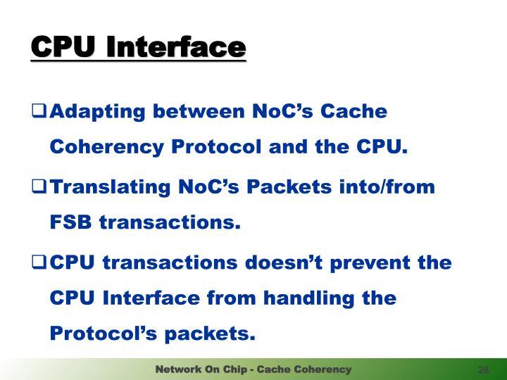CPU Interface