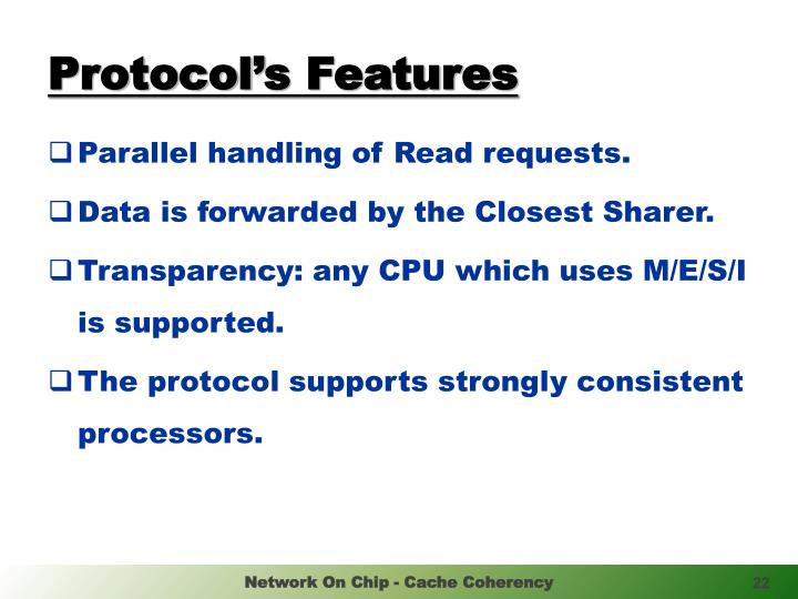Protocol's Features