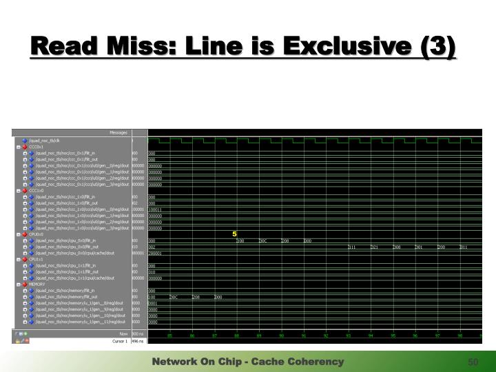 Read Miss: Line is Exclusive (3)