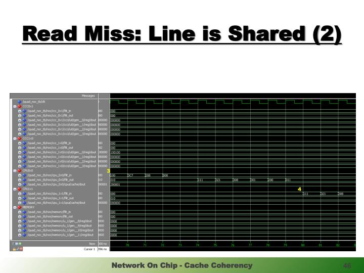 Read Miss: Line is Shared (2)