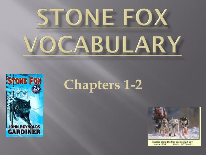 stone fox vocabulary n.