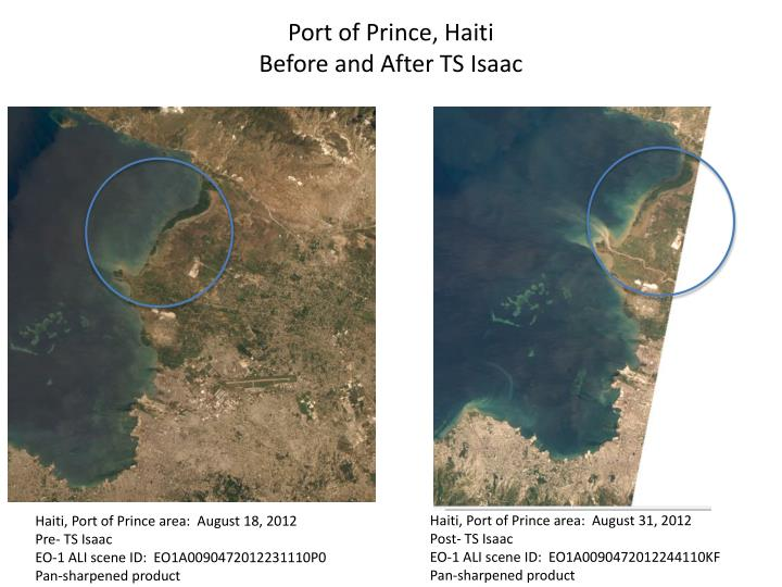 Port of prince haiti before and after ts isaac