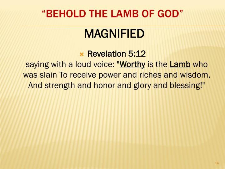 Revelation 5:12