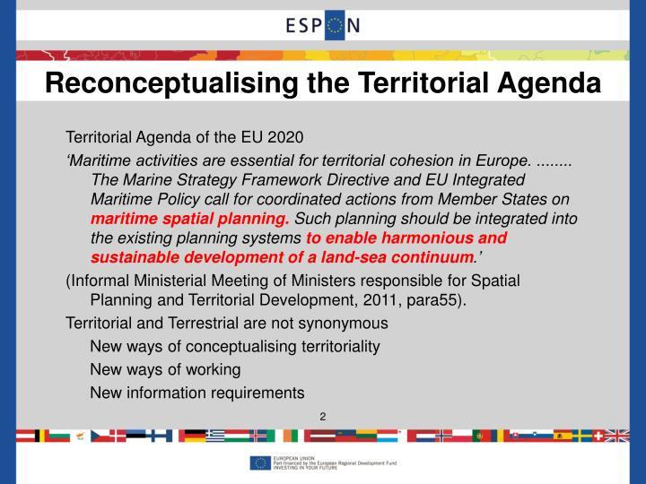 Territorial Agenda of the EU 2020