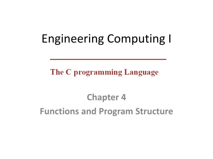 engineering computing i n.