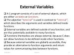 external variables