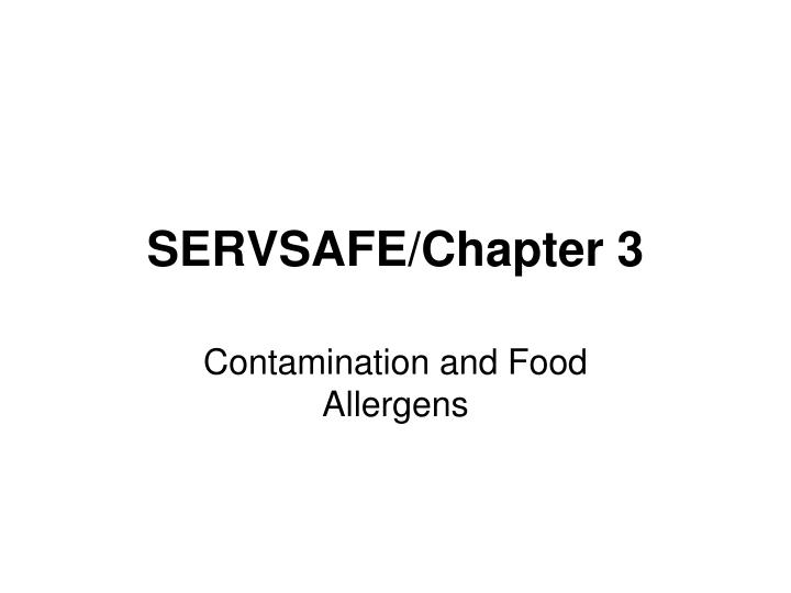 servsafe chapter 3 n.