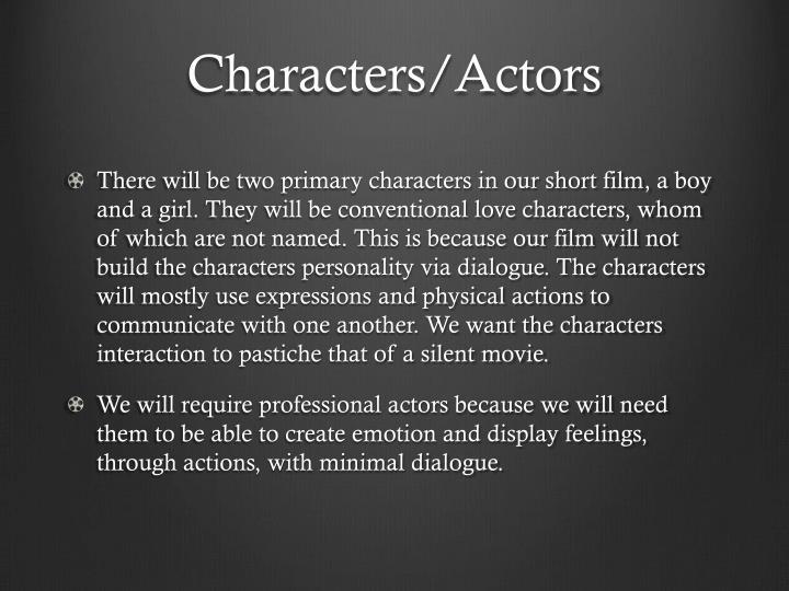 Characters/Actors