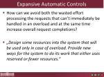 expansive automatic controls