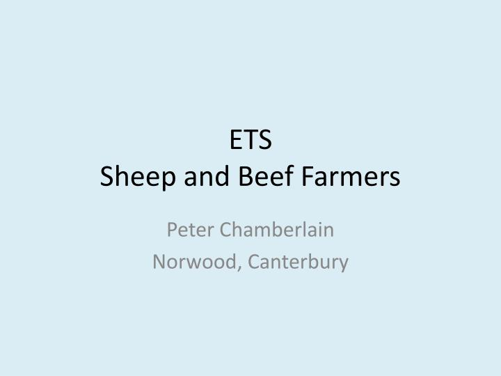 Ets sheep and beef farmers