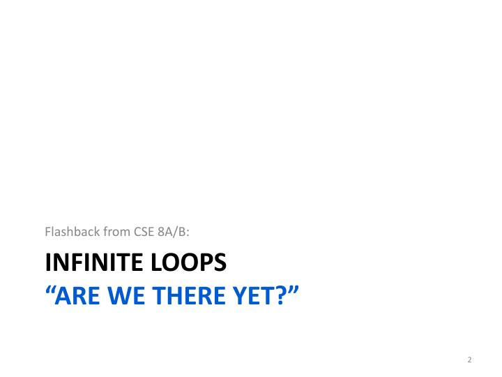 Infinite loops are we there yet