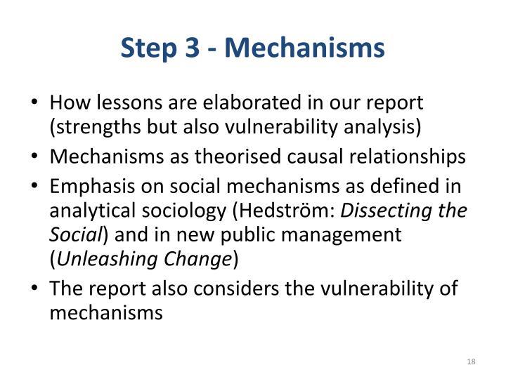 Step 3 - Mechanisms