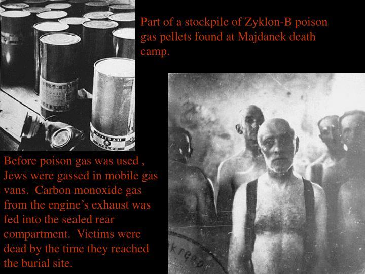 Part of a stockpile of Zyklon-B poison gas pellets found at Majdanek death camp.