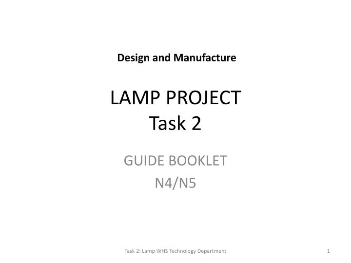 lamp project task 2 n.