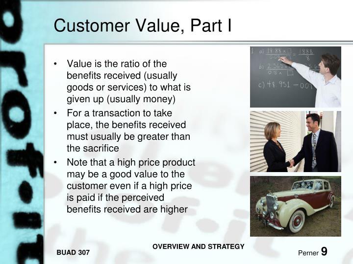 Customer Value, Part I