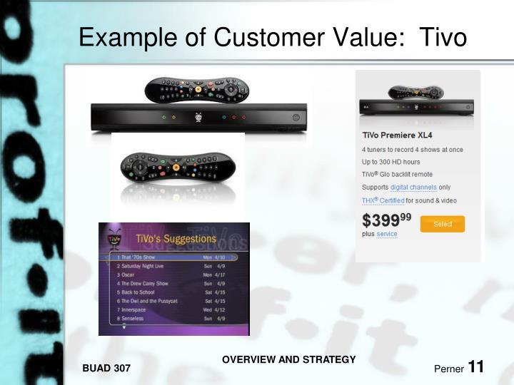 Example of Customer Value:  Tivo
