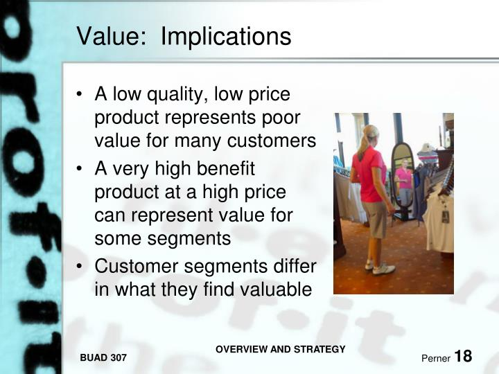 Value:  Implications