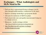 exchanges what audiologists and slps need to do