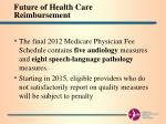 future of health care reimbursement11