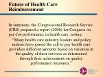 future of health care reimbursement12