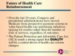 future of health care reimbursement3