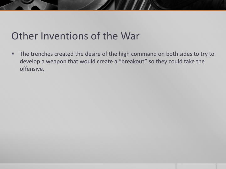 Other Inventions of the War