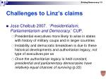challenges to linz s claims1