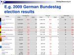 e g 2009 german bundestag election results