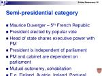 semi presidential category