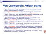 van craneburgh african states