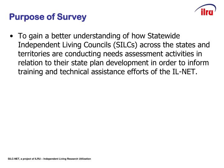 Slide 2 purpose of survey