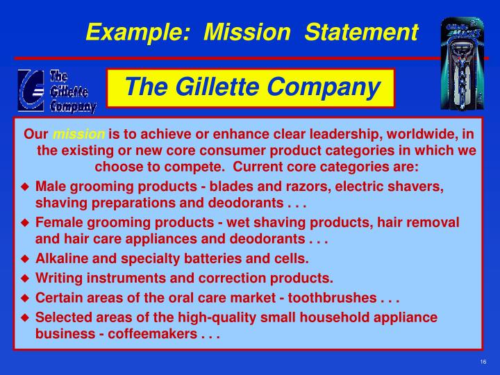 Example:  Mission  Statement