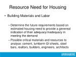 resource need for housing1