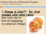 5 signs there is a chemical change can occur in physical change2