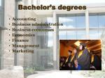bachelor s degrees