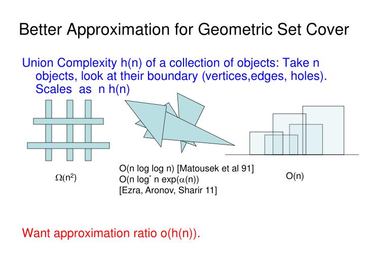 Better Approximation for Geometric Set Cover