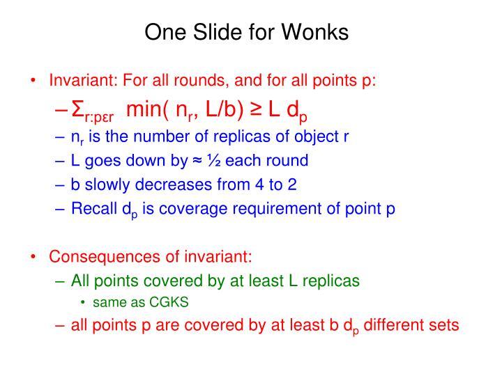 One Slide for Wonks